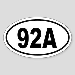 92A Oval Sticker