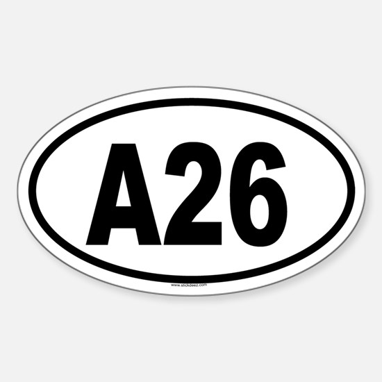 A26 Oval Decal