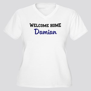 Welcome Home Damian Women's Plus Size V-Neck T-Shi