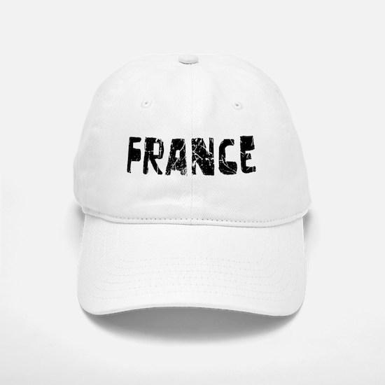 France Faded (Black) Baseball Baseball Cap