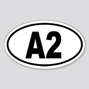 A2 Oval Sticker