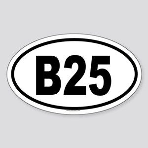 B25 Oval Sticker