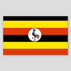 Uganda Rectangle Sticker