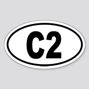 C2 Oval Sticker