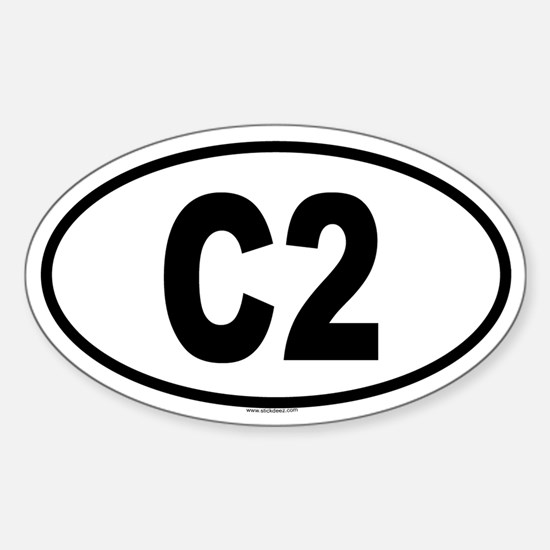 C2 Oval Decal