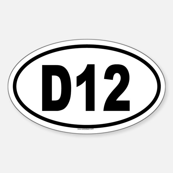 D12 Oval Decal