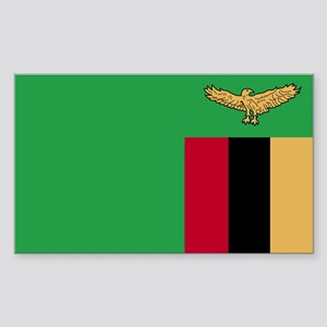 Zambia Rectangle Sticker