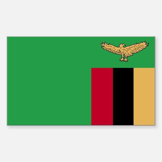 Zambia Rectangle Decal