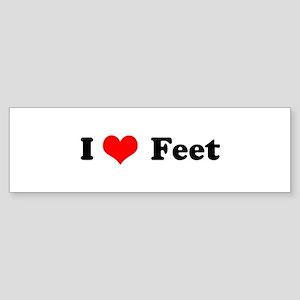 I Love Feet Bumper Sticker