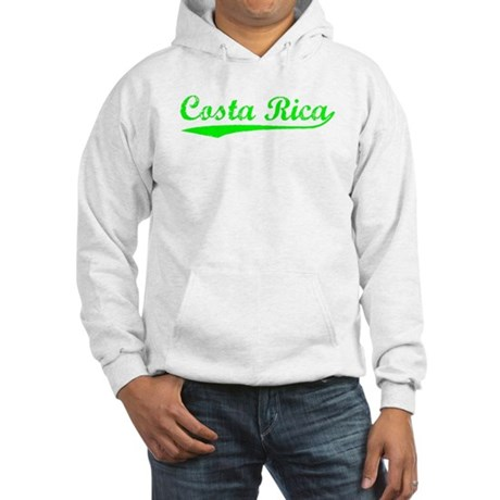 Vintage Costa Rica (Green) Hooded Sweatshirt