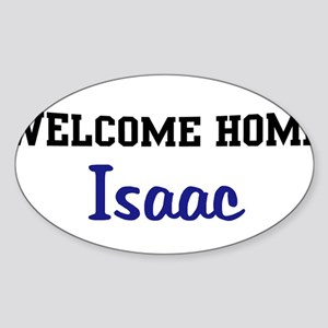 Welcome Home Isaac Oval Sticker