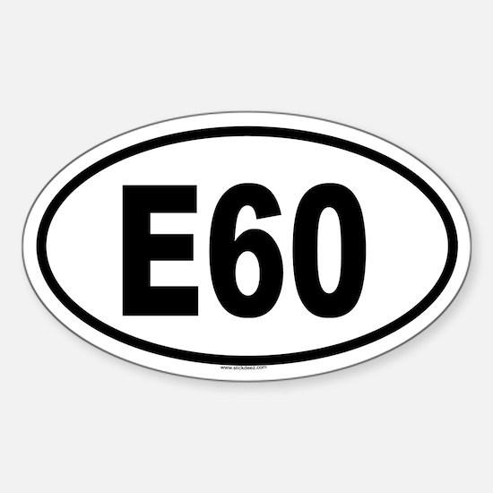 E60 Oval Decal