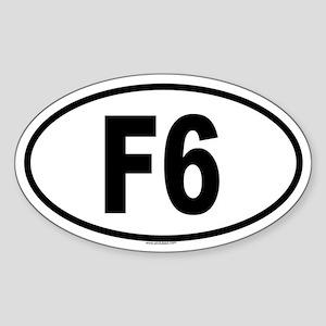 F6 Oval Sticker