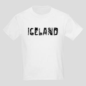 Iceland Faded (Black) Kids Light T-Shirt
