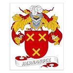 Hernandez Family Crest Small Poster