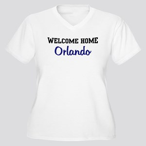 Welcome Home Orlando Women's Plus Size V-Neck T-Sh