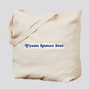 Tyson knows best Tote Bag