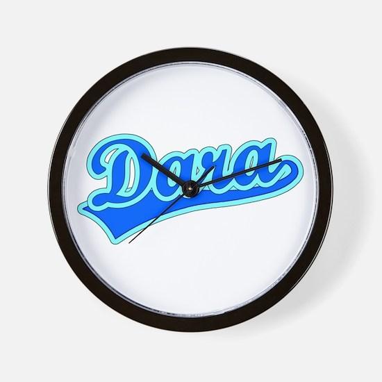Retro Dara (Blue) Wall Clock