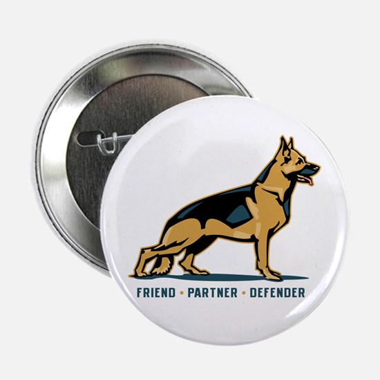 "German Shepherd Friend 2.25"" Button (100 pack"