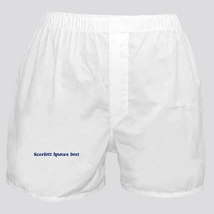 Scarlett knows best Boxer Shorts