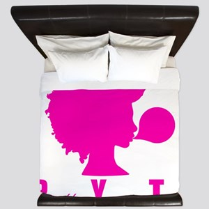 "Pretty Young Ting"" T-Shirt Black Girl M King Duvet"