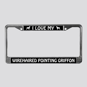 I Love My Wirehaired... Griffon License Frame