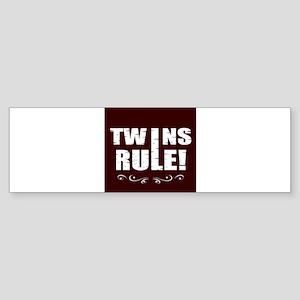 twins brown Bumper Sticker