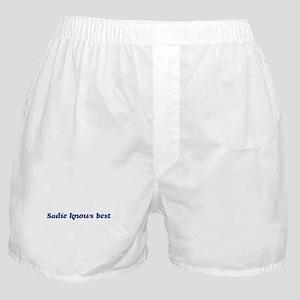 Sadie knows best Boxer Shorts