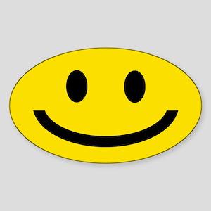 SMILEY FACE Oval Sticker