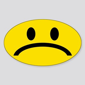 FROWN FACE Oval Sticker