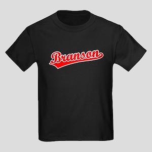 Retro Branson (Red) Kids Dark T-Shirt