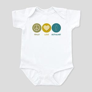Peace Love Bodyguard Infant Bodysuit