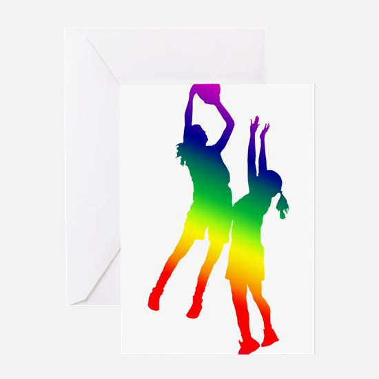 Women's Basketball Greeting Cards