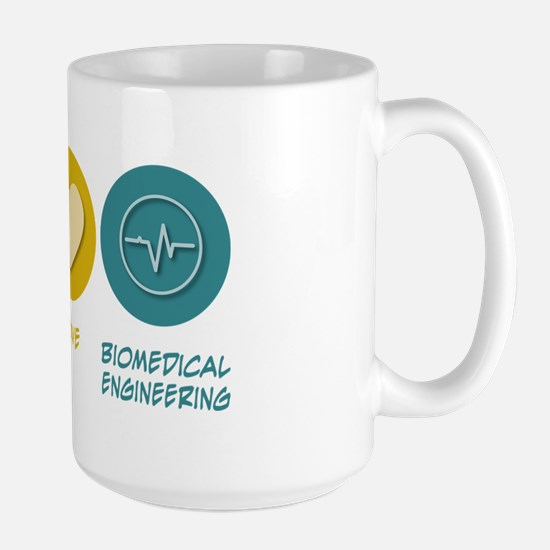 Peace Love Biomedical Engineering Large Mug