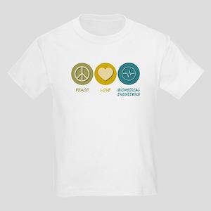 Peace Love Biomedical Engineering Kids Light T-Shi
