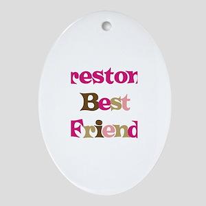 Preston's Best Friend Oval Ornament