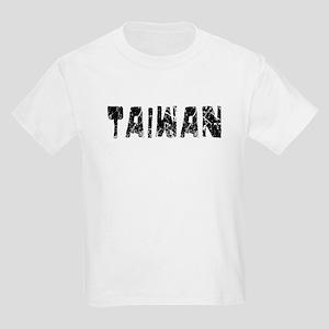 Taiwan Faded (Black) Kids Light T-Shirt