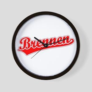 Retro Brennen (Red) Wall Clock