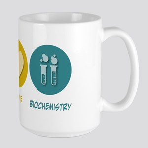 Peace Love Biochemistry Large Mug