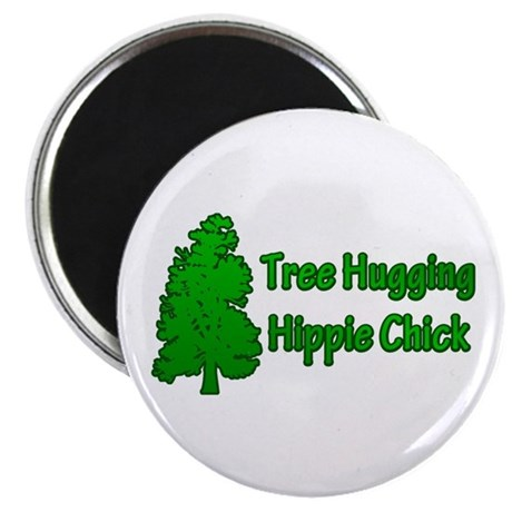Tree Hugging Hippie Chick Magnet