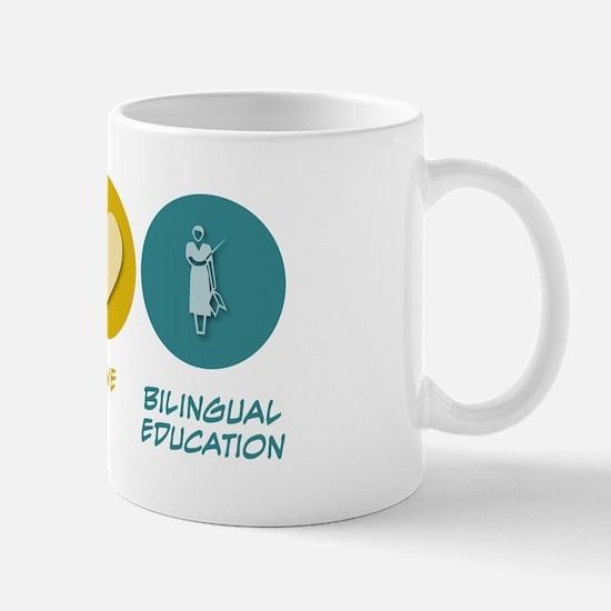 Peace Love Bilingual Education Mug