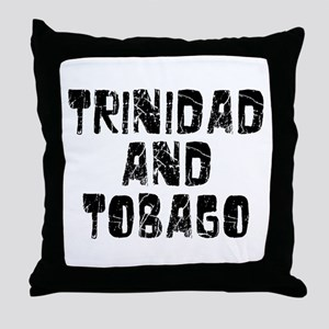 Trinidad and.. Faded (Black) Throw Pillow