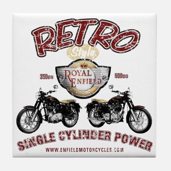 Retro Single Cylinder Power Tile Coaster