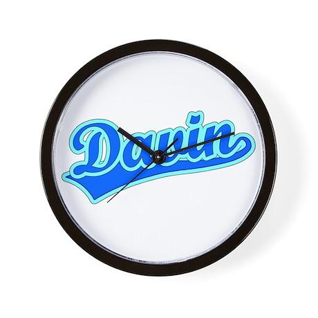 Retro Davin (Blue) Wall Clock