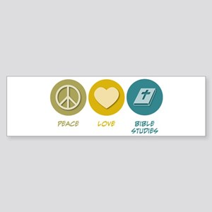 Peace Love Bible Studies Bumper Sticker