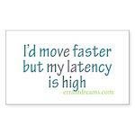 High Latency Rectangle Sticker