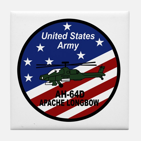 Funny Military helicopter Tile Coaster