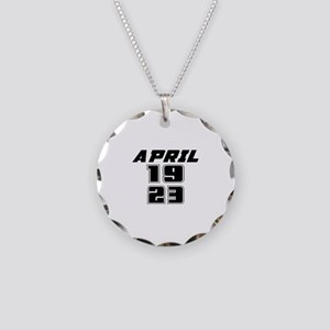 April 1923 Birthday Designs Necklace Circle Charm