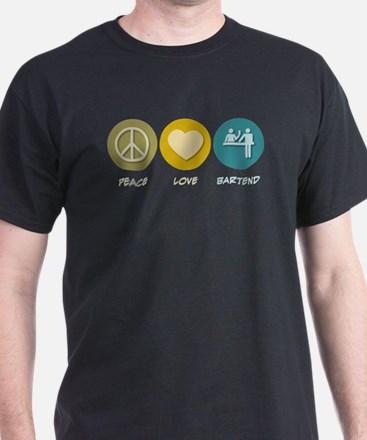 Peace Love Bartend T-Shirt