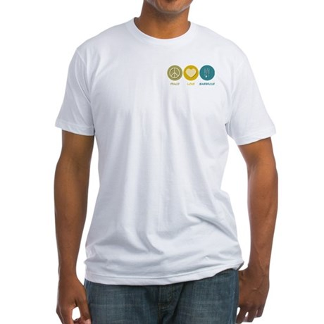 Peace Love Barbecue Fitted T-Shirt